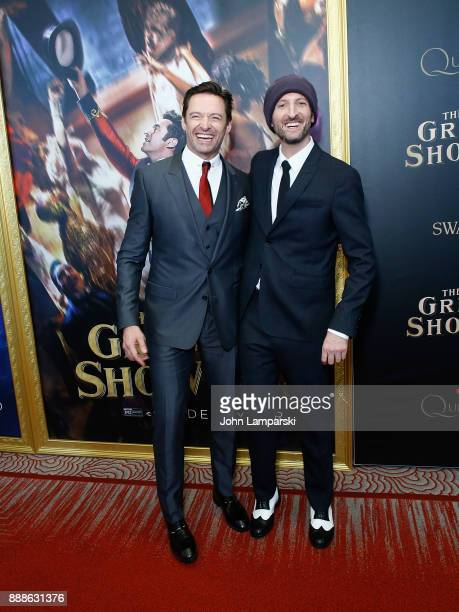 Hugh Jackman and Director Michael Gracey attend 'The Greatest Showman' World Premiere aboard the Queen Mary 2 at the Brooklyn Cruise Terminal on...