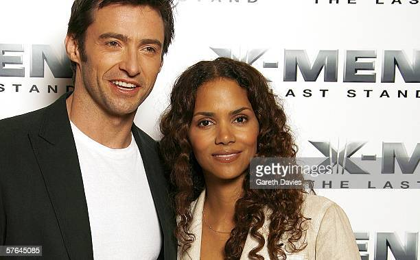 Hugh Jackman and Halle Berry attend the press junket and photocall for XMen 3 ahead of the UK Premiere on Monday Dorchester hotel May 18 2006 in...
