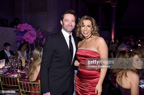 Hugh Jackman and Honoree Heloise Pratt attend the 2016 Angel Ball hosted by Gabrielle's Angel Foundation For Cancer Research on November 21 2016 in...