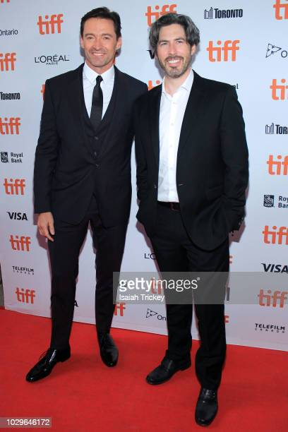 Hugh Jackman and Jason Reitman attend the 'The Front Runner' premiere during 2018 Toronto International Film Festival at Ryerson Theatre on September...