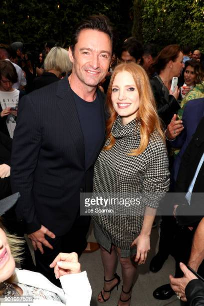 Hugh Jackman and Jessica Chastain attend GOLD MEETS GOLDEN The 5th Anniversary Refreshed by CocaCola Globes Weekend Gets Sporty with Nicole Kidman...