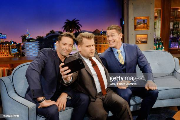 Hugh Jackman and John Cena chat with James Corden during 'The Late Late Show with James Corden' Thursday December 14 2017 On The CBS Television...