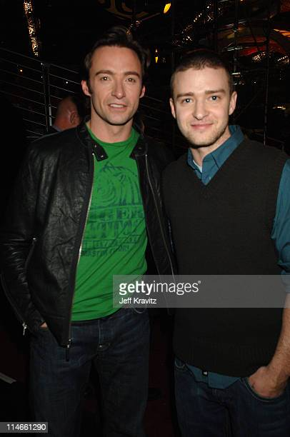 Hugh Jackman and Justin Timberlake during Nickelodeon's 19th Annual Kids' Choice Awards - Backstage and Audience at Pauley Pavillion in Westwood,...