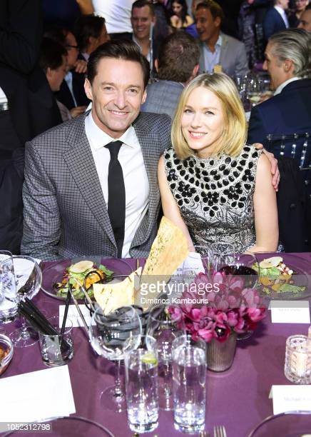 Hugh Jackman and Naomi Watts attens God's Love We Deliver Golden Heart Awards at Spring Studios on October 16 2018 in New York City