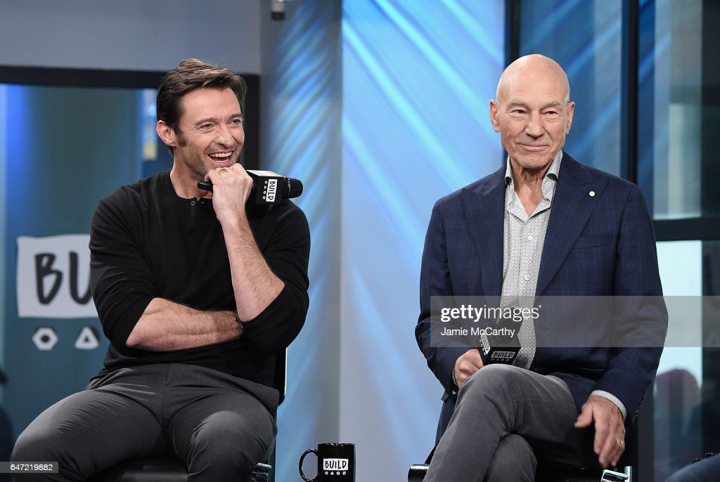 Hugh Jackman and Patrick Stewart attend the Build Series Presents Hugh Jackman And Patrick Stewart Discussing 'Logan' at Build Studio on March 2, 2017 in New York City.