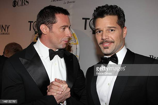 Hugh Jackman and Ricky Martin attend the 66th Annual Tony Awards at the Beacon Theatre on June 10 2012 in New York City