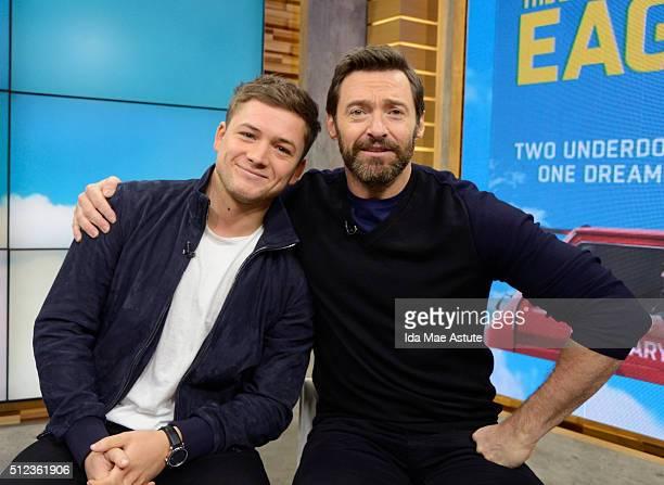 AMERICA Hugh Jackman and Taron Egerton talk about their new film Eddie the Eagle on GOOD MORNING AMERICA airing Thursday FEB 25 on the Walt Disney...