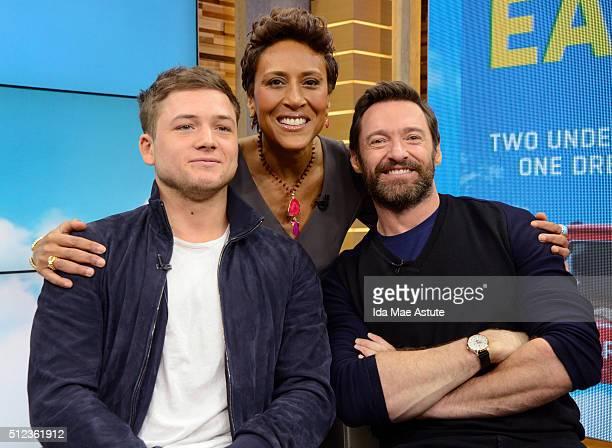 AMERICA Hugh Jackman and Taron Egerton talk about their new film 'Eddie the Eagle' on GOOD MORNING AMERICA airing Thursday FEB 25 on the ABC...