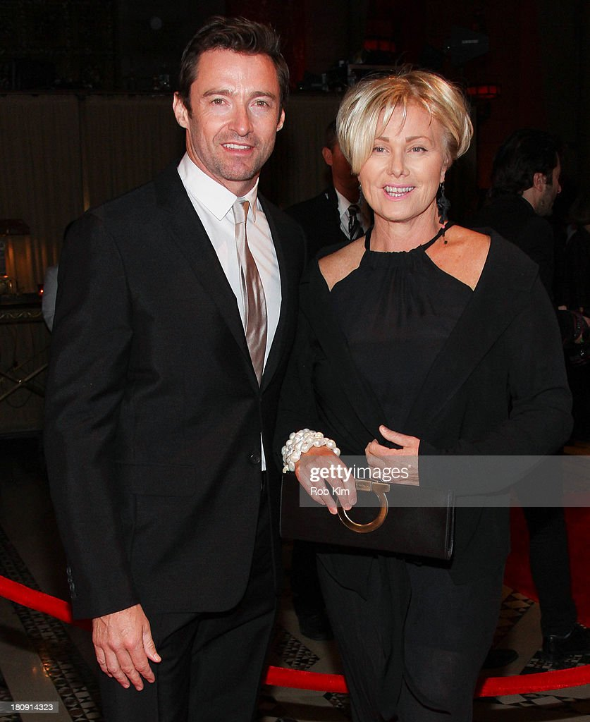 Hugh Jackman and wife Deborra-Lee Furness attend New Yorkers For Children Presents 14th Annual Fall Gala benefiting youth in foster care at Cipriani 42nd Street on September 17, 2013 in New York City.