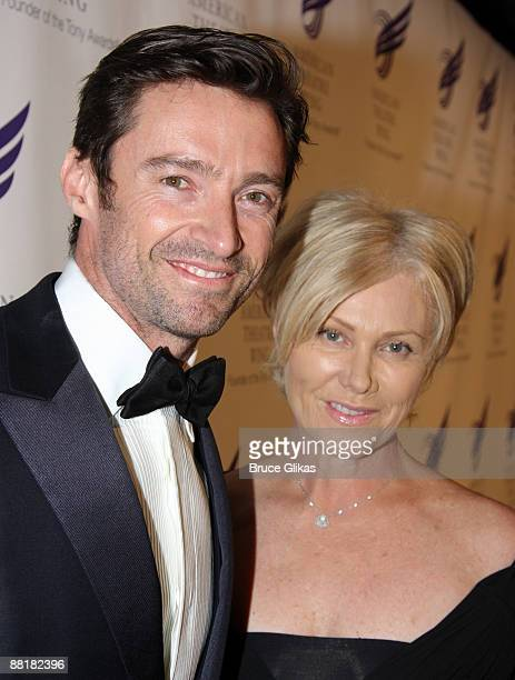 Hugh Jackman and wife DeborraLee Furness attend the American Theatre Wing's 2009 Spring Gala at Cipriani 42nd Street on June 1 2009 in New York City