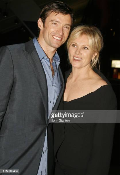 """Hugh Jackman and wife Deborra-Lee Furness during """"The Boy from Oz"""" Sydney Premiere - Afterparty at Entertainment Centre in Sydney, NSW, Australia."""