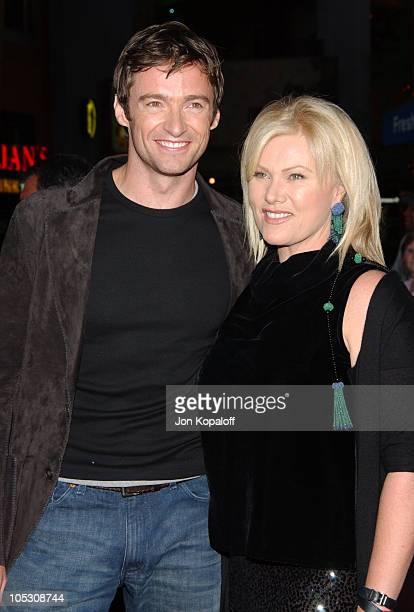 "Hugh Jackman and wife Deborra-Lee Furness during ""Van Helsing"" Los Angeles Premiere at Universal Amphitheatre in Universal City, California, United..."