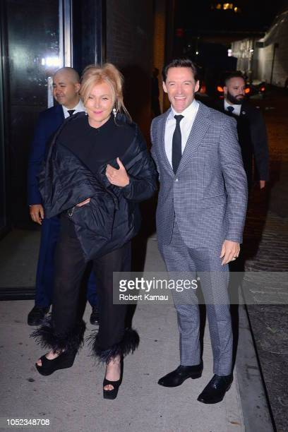 Hugh Jackman and wife Deborralee Furness seen out and about in Manhattan on October 16 2018 in New York City