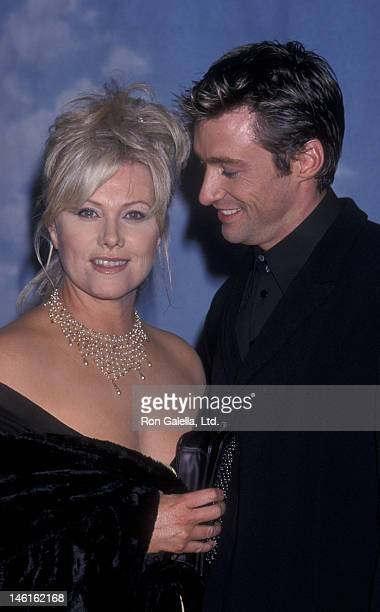 Hugh Jackman and wife Deborra-Lee Jackman attend Carousel of Hope Ball Benefit on October 28, 2000 at the Beverly Hills Hotel in Beverly Hills,...