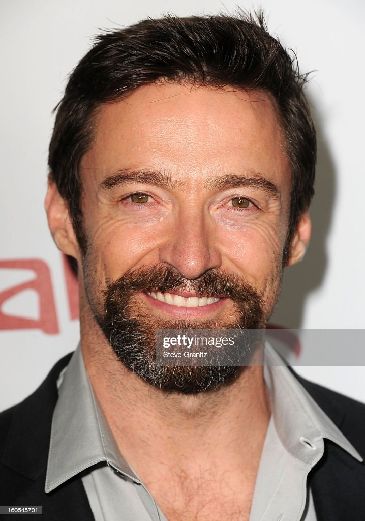 Hugh Jackman arrives at 'Escape From Planet Earth' at Mann Chinese 6 on February 2, 2013 in Los Angeles, California.