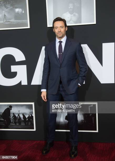 Hugh Jackman arrives for the premiere of 'Logan' on February 24 2017 in New York / AFP / 30203331A / Bryan R Smith