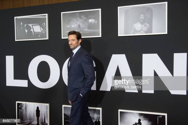 Hugh Jackman arrives for the premiere of 'Logan' on February 24 2017 in New York / AFP PHOTO / Bryan R Smith