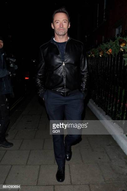 Hugh Jackman arriving at Claridge's hotel Mayfair on December 1 2017 in London England