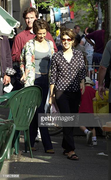 Hugh Jackman Ashley Judd and Marisa Tomei during Someone Like You movie set in New York City New York United States