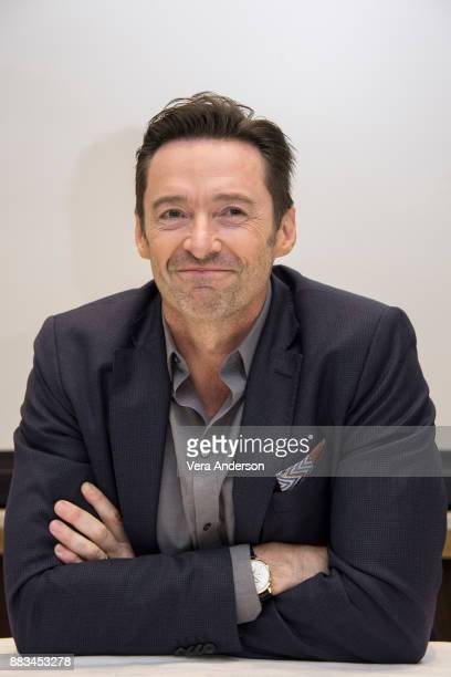 Hugh Jackman at 'The Greatest Showman' Press Conference at the Four Seasons Hotel on November 28 2017 in Beverly Hills California