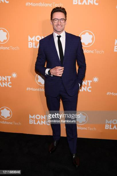 Hugh Jackman attends as Montblanc celebrates the launch of MB 01 Headphones Summit 2 at World of McIntosh on March 10 2020 in New York City