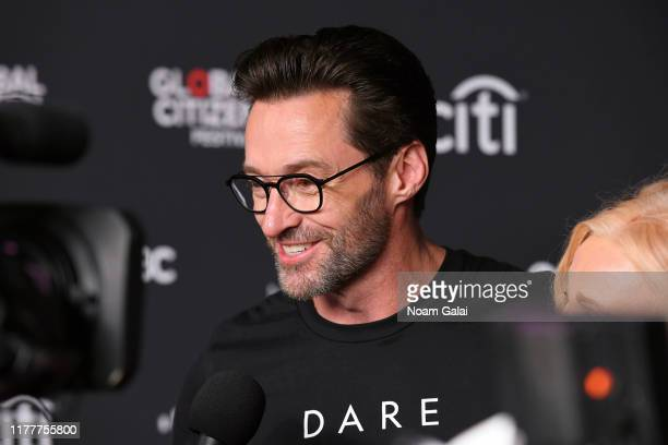 Hugh Jackman attends the 2019 Global Citizen Festival Power The Movement in Central Park on September 28 2019 in New York City