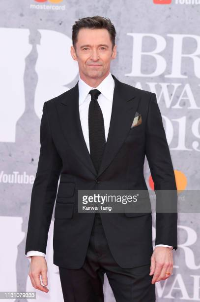 Hugh Jackman attends The BRIT Awards 2019 held at The O2 Arena on February 20 2019 in London England