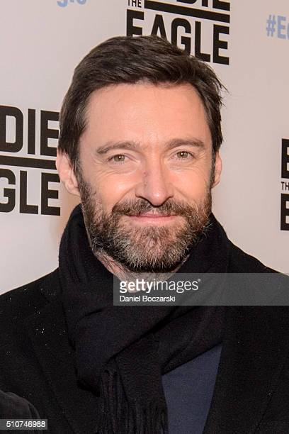 Hugh Jackman attends the Chicago screening of 'Eddie the Eagle' at Kerasotes Showplace ICON on February 16 2016 in Chicago Illinois