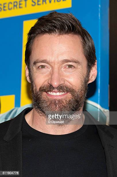 Hugh Jackman attends the Eddie The Eagle New York screening at Chelsea Bow Tie Cinemas on February 23 2016 in New York City