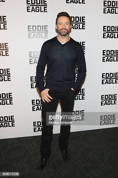 Hugh Jackman attends the 'Eddie The Eagle' Screening at Landmark Sunshine Theater on February 2 2016 in New York City