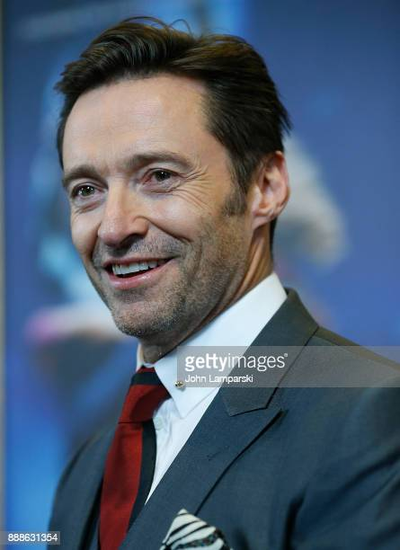 Hugh Jackman attends 'The Greatest Showman' World Premiere aboard the Queen Mary 2 at the Brooklyn Cruise Terminal on December 8 2017 in the Brooklyn...