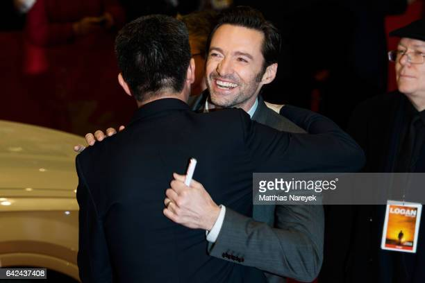 Hugh Jackman attends the 'Logan' premiere during the 67th Berlinale International Film Festival Berlin at Berlinale Palace on February 17 2017 in...