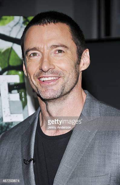 Hugh Jackman attends the meet and greet of 'The River' on October 14 2014 in New York City