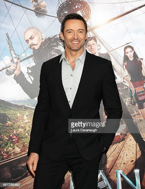 Hugh Jackman attends the 'Pan' New York Premiere Outside Arrivals at Ziegfeld Theater on October 4 2015 in New York City