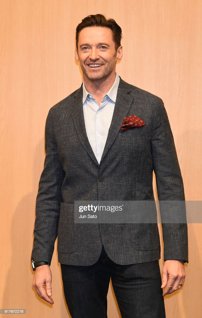 Hugh Jackman attends the photocall for 'The Greatest Showman' at Midtown Hall on February 14, 2018 in Tokyo, Japan.