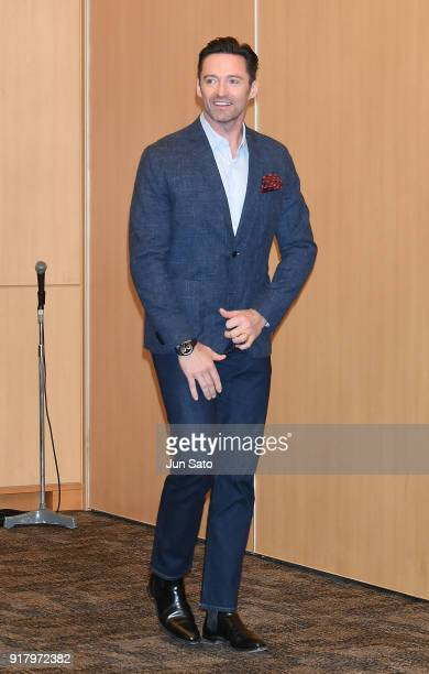 Hugh Jackman attends the photocall for 'The Greatest Showman' at Midtown Hall on February 14 2018 in Tokyo Japan