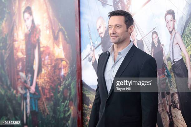 Hugh Jackman attends the premiere of 'Pan' at Ziegfeld Theater on October 4 2015 in New York City