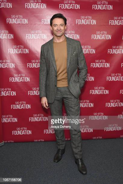 Hugh Jackman attends the SAGAFTRA Foundation Conversations Screening of The Front Runner at SAGAFTRA Foundation Screening Room on November 3 2018 in...
