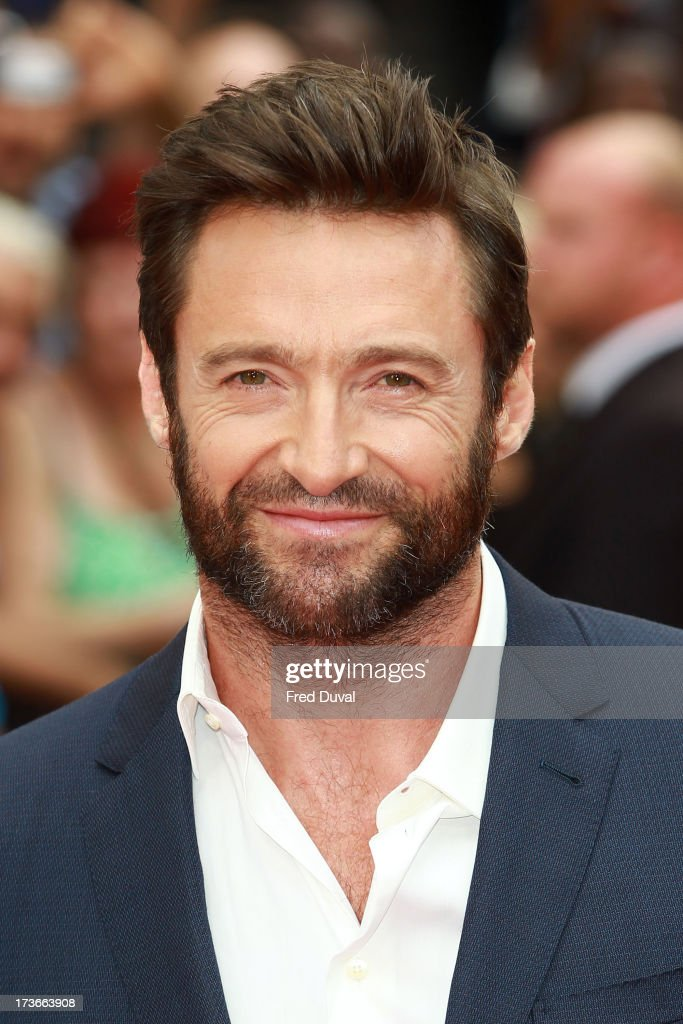 Hugh Jackman attends the UK film premiere of 'The Wolverine' at The Empire Cinema on July 16, 2013 in London, England.
