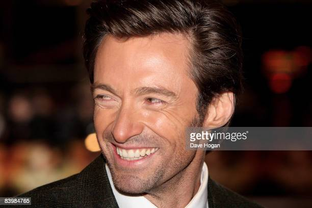 Hugh Jackman attends the UK premiere of 'Australia' at the Odeon Cinema Leicester Square on December 10 2008 in London England