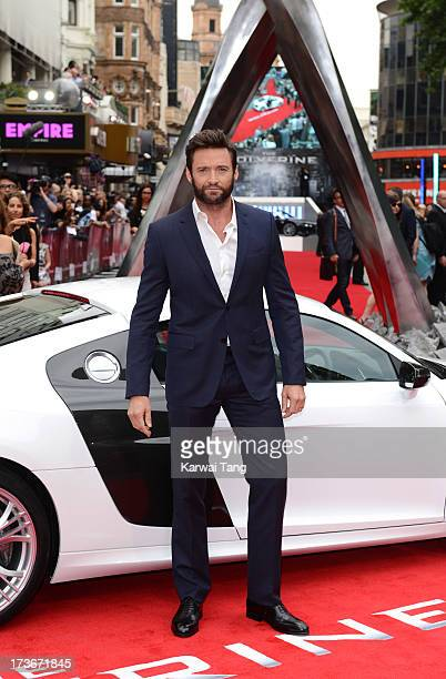 Hugh Jackman attends the UK premiere of 'The Wolverine' at Empire Leicester Square on July 16 2013 in London England