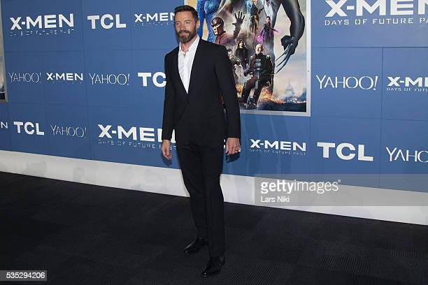 """Hugh Jackman attends the """"X-Men: Days of Future Past"""" global premiere at Jacob K. Javits Convention Center in New York City. © LAN"""