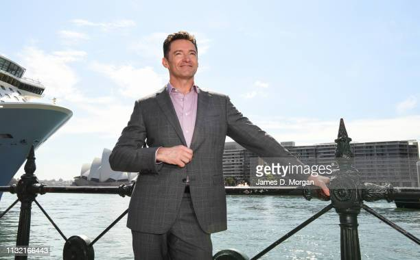 Hugh Jackman beside the harbour after his media announcement at the Museum of Contemporary Art on February 26 2019 in Sydney Australia Hugh Jackman...