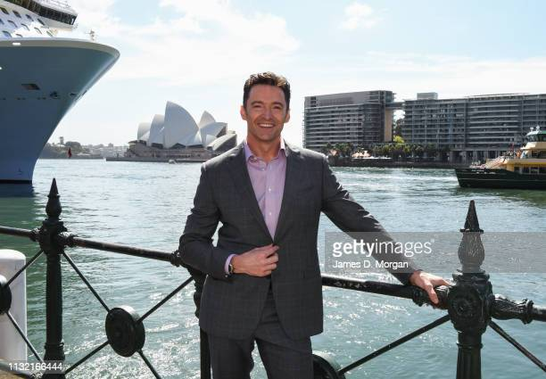Hugh Jackman beside the harbour after his media announcement at the Museum of Contemporary Art on February 26, 2019 in Sydney, Australia. Hugh...