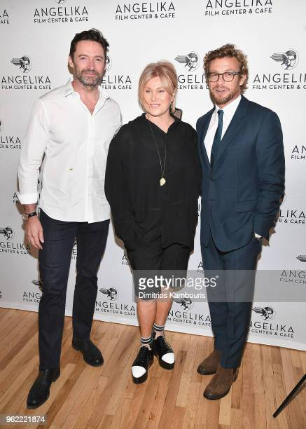 Hugh Jackman DeborrahLee Furness and Simon Baker attend the 'Breath' New York screening at Angelika Film Center on May 24 2018 in New York City