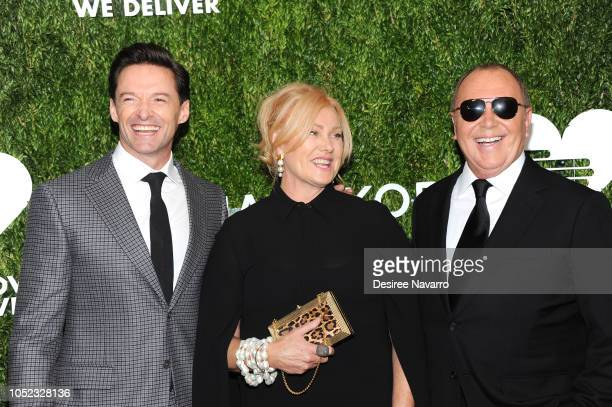 Hugh Jackman Deborralee Furness and Michael Kors attend God's Love We Deliver 12th Annual Golden Heart Awards at Spring Studios on October 16 2018 in...