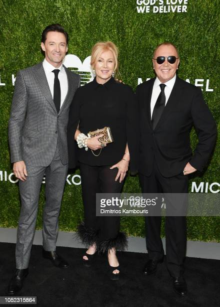Hugh Jackman Deborralee Furness and Michael Korsattend God's Love We Deliver Golden Heart Awards at Spring Studios on October 16 2018 in New York City