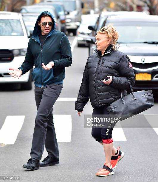 Hugh Jackman Deborralee Furness are seen in the West Village on March 5 2018 in New York City