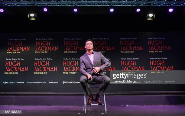 Hugh Jackman during his media announcement at the Museum of Contemporary Art on February 26 2019 in Sydney Australia Hugh Jackman today announced the...