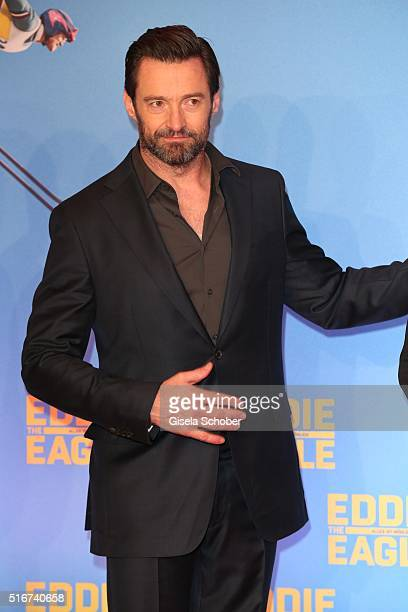 Hugh Jackman during the 'Eddie the Eagle' premiere at Mathaeser Filmpalast on March 20 2016 in Munich Germany